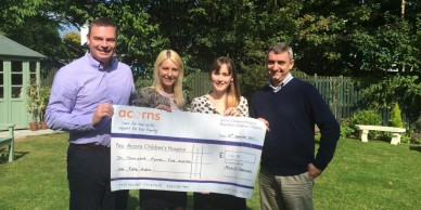Acorns Cheque Presentation (Sept 2014)